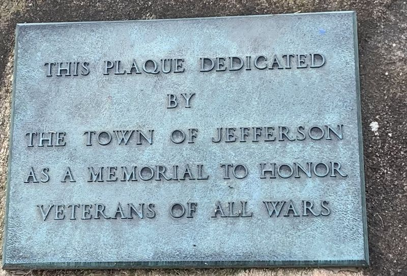 Town of Jefferson War Memorial image. Click for full size.