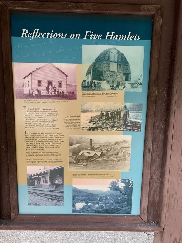 Reflections on Five Hamlets Marker image. Click for full size.