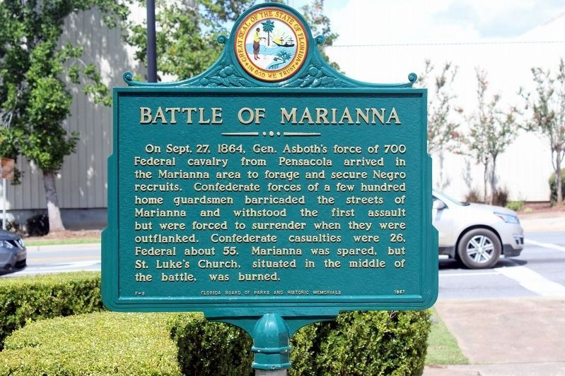 Battle of Marianna Marker after restoration image. Click for full size.