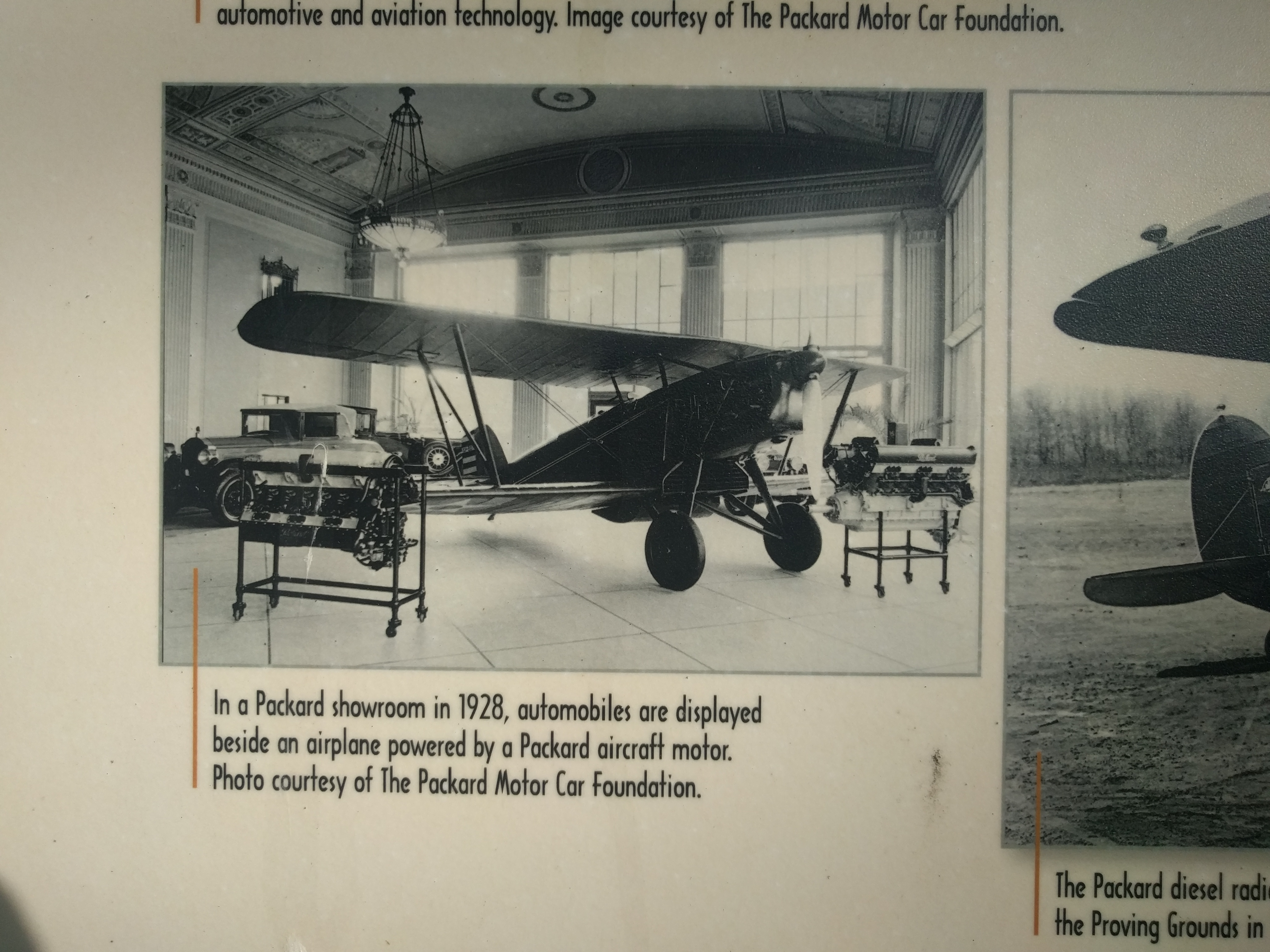 Packard Takes Flight: Charles Lindbergh Visits the Proving Grounds Marker - lower left image