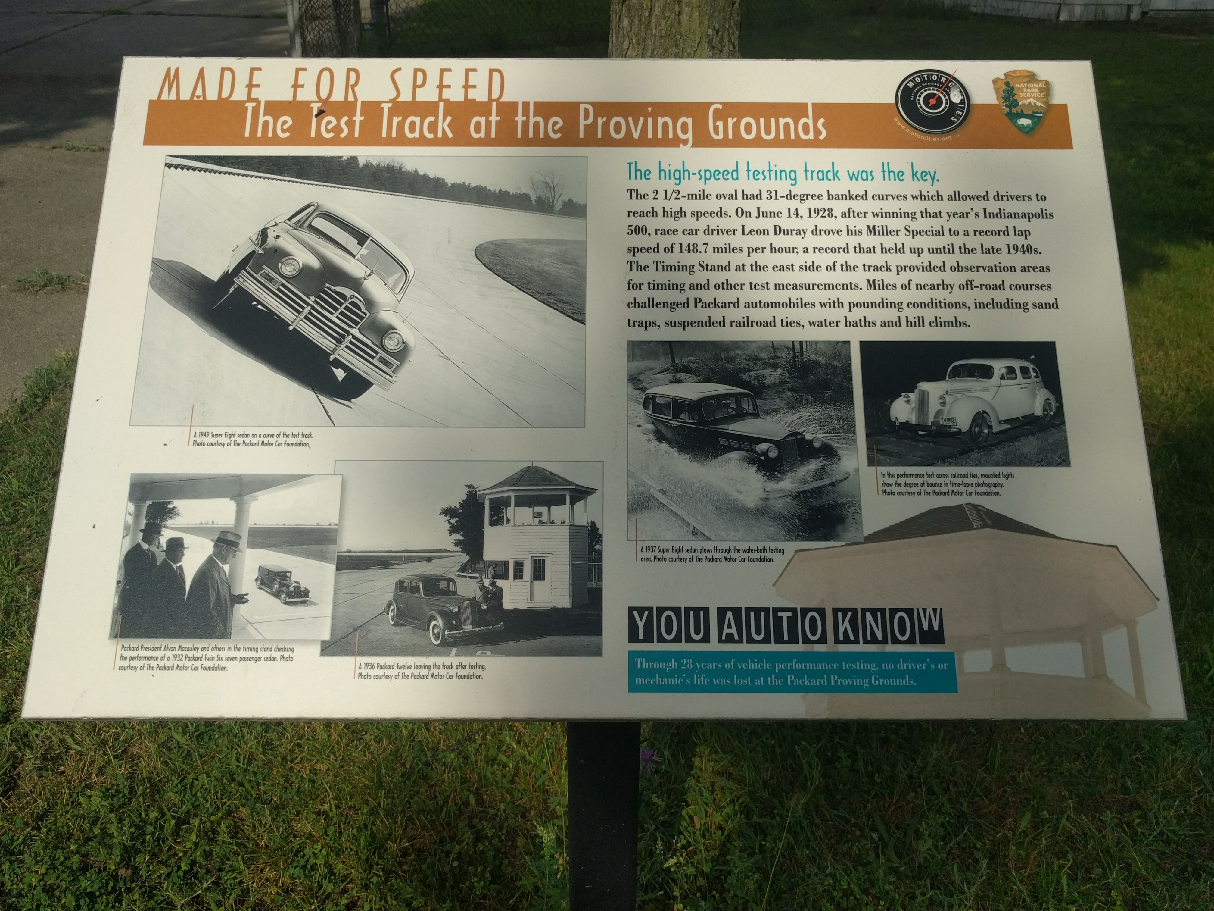 Made for Speed: The Test Track at the Proving Grounds Marker