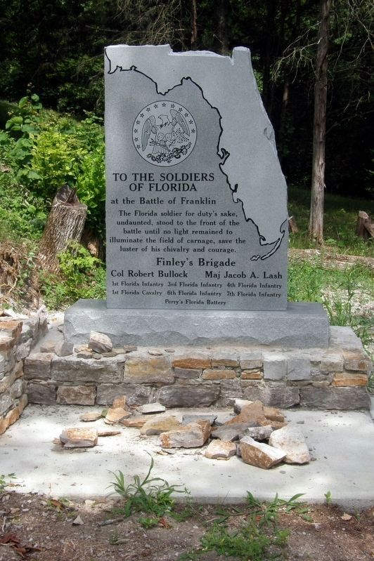 To The Soldiers Of Florida Marker image. Click for full size.