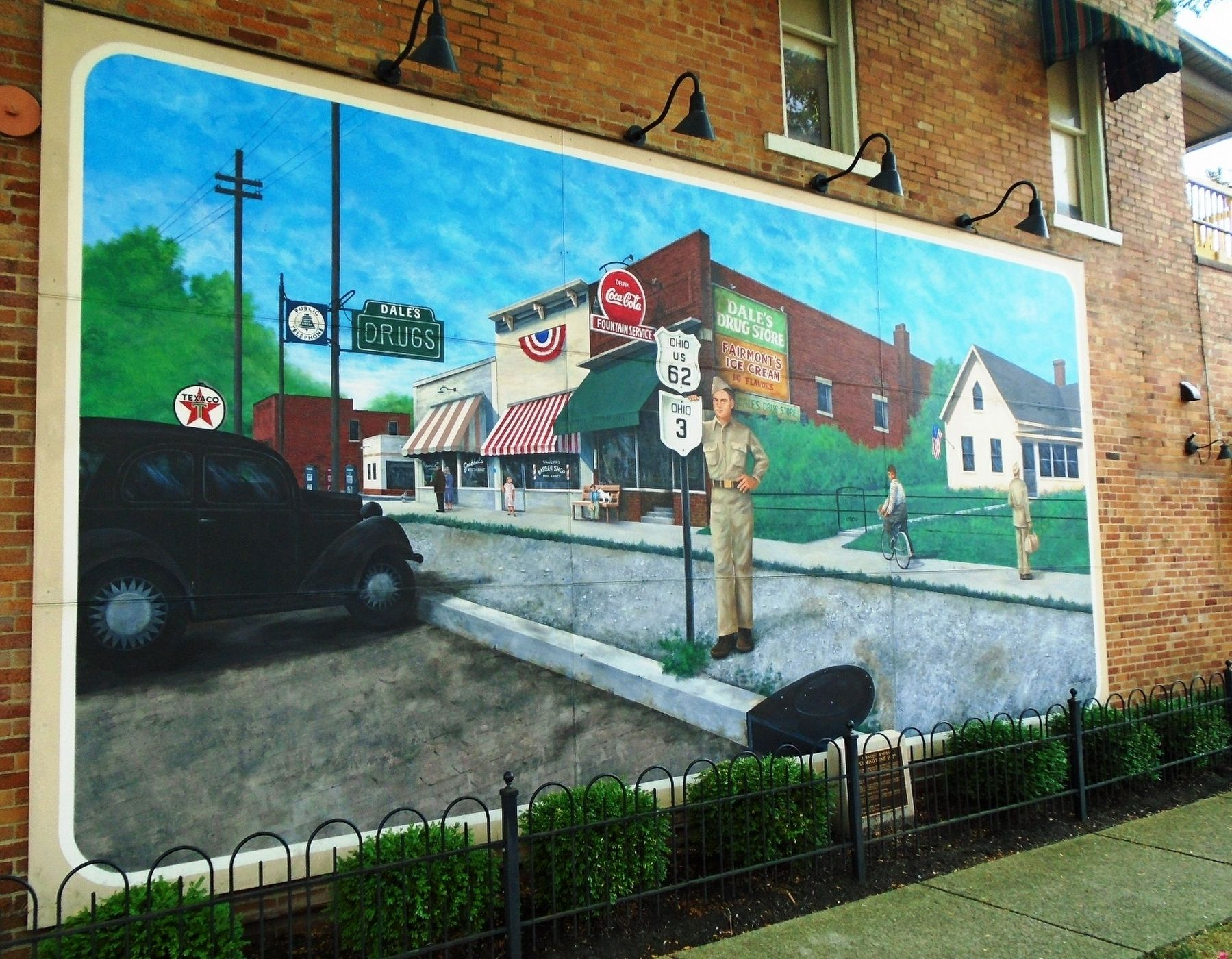 """Coming Home 1942"" Mural and Marker image. Click for full size."