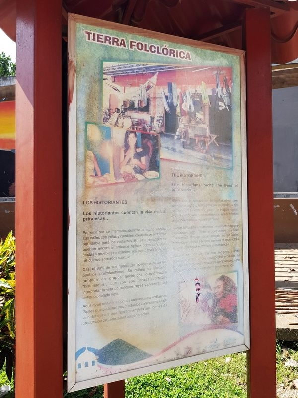 Nahuizalco Marker, Land of Folklore panel image, Touch for more information