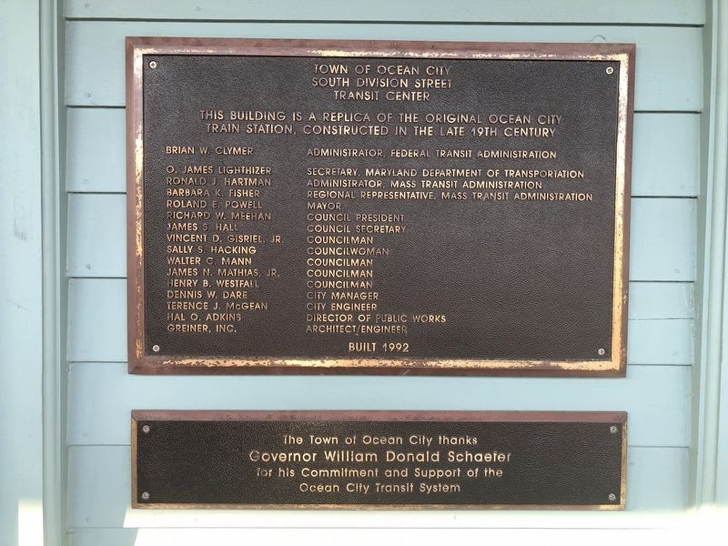 Plaque on the South Division Street Transit Center image. Click for full size.