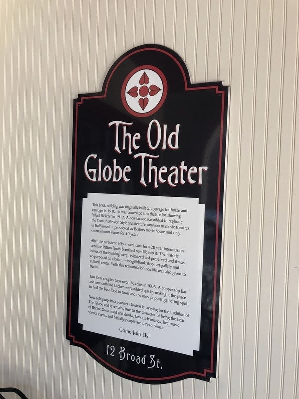 The Old Globe Theater Marker image. Click for full size.