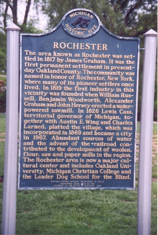 Rochester Marker image. Click for full size.