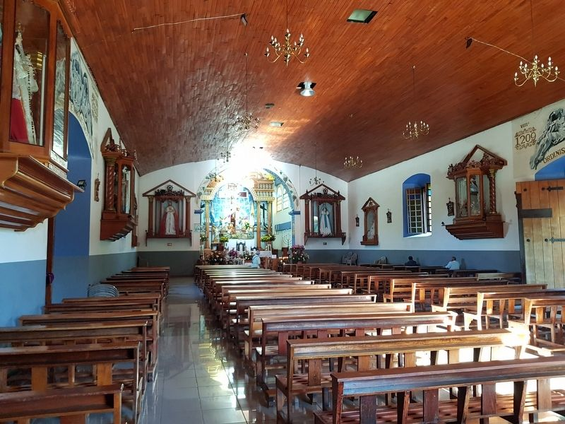 The interior of the Ataco Catholic Church image. Click for full size.