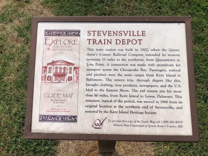 Stevensville Train Depot Marker image. Click for full size.