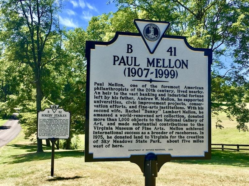 Paul Mellon and Rokeby Stables Markers image. Click for full size.