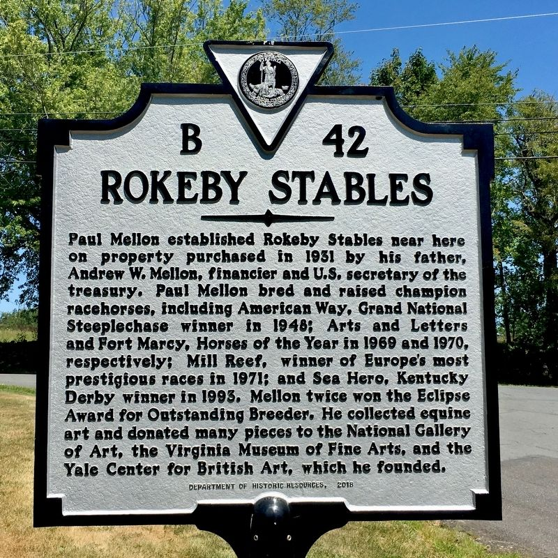 Rokeby Stables Marker image. Click for full size.
