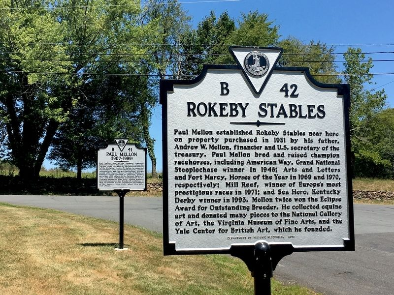 Rokeby Stables and Paul Mellon Markers image. Click for full size.