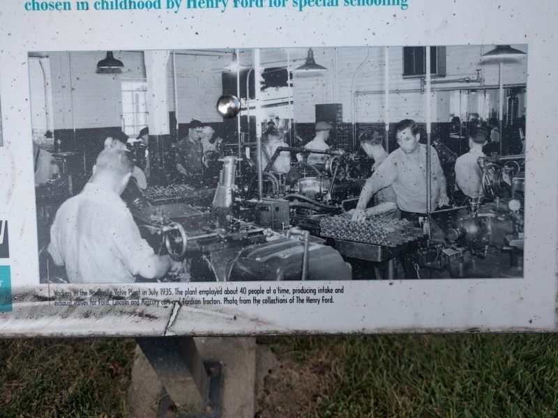 Northville Valve Plant: Henry Ford's Experiment Marker - lower right image image. Click for full size.