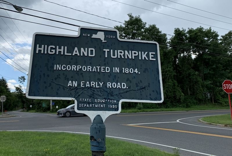 Highland Turnpike Marker image. Click for full size.