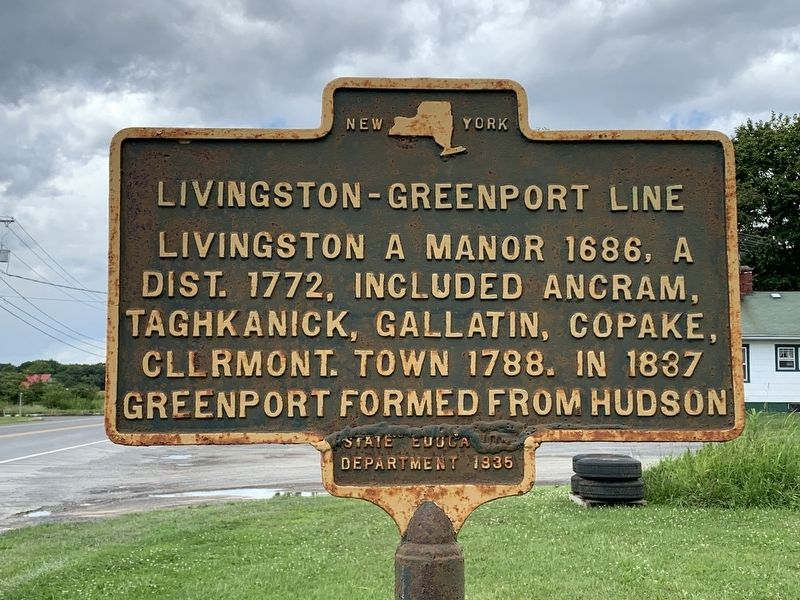 Greenport - Livingston Line Marker image. Click for full size.