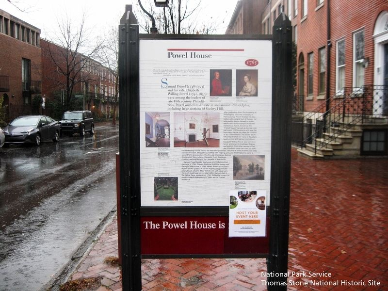 Powel House Marker image. Click for full size.