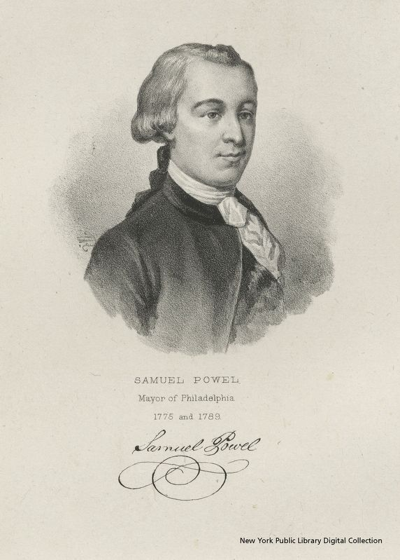 Samuel Powel, Mayor of Philadelphia image. Click for full size.