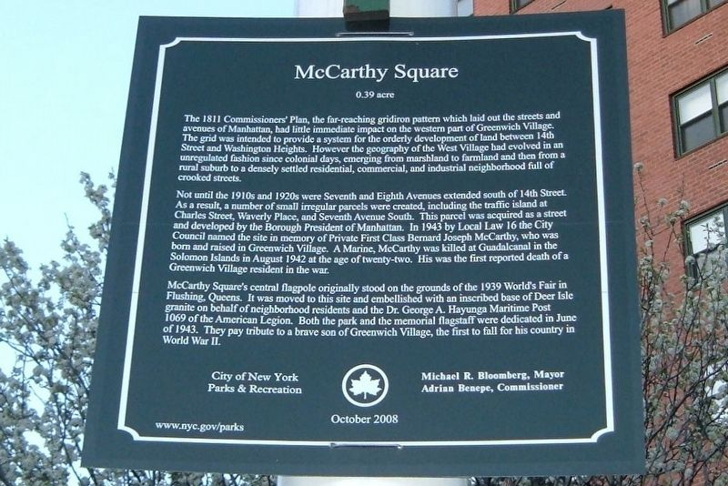 McCarthy Square Marker image. Click for full size.