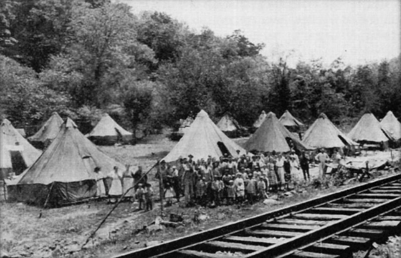 Residents of Holly Grove mining tent colony image. Click for full size.