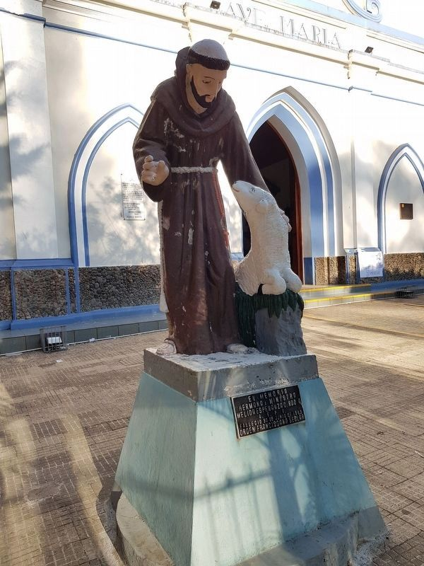 A St. Francis statue in the atrium of the Ataco Catholic Church image. Click for full size.