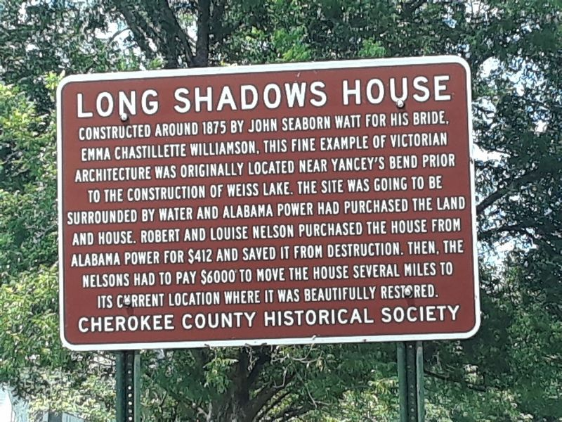 Long Shadows House Marker image. Click for full size.