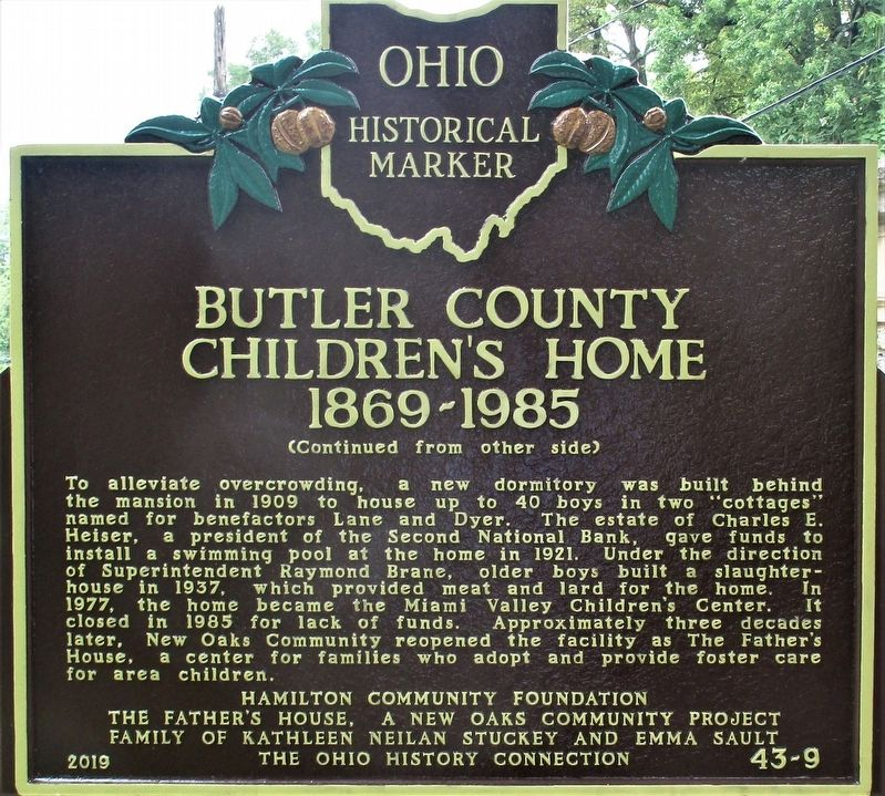 Butler County Children's Home Marker image. Click for full size.