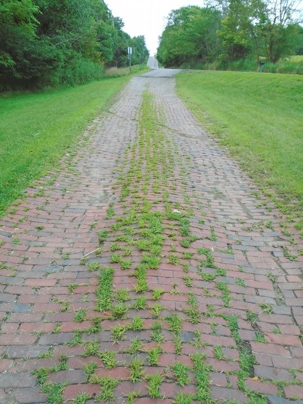 Historical Brick Section Of The LINCOLN HIGHWAY image. Click for full size.