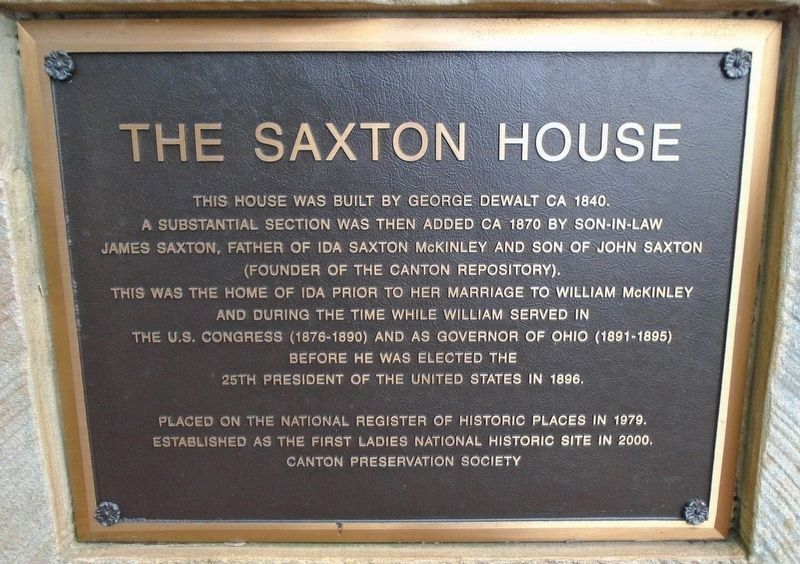 The Saxton House Marker image. Click for full size.