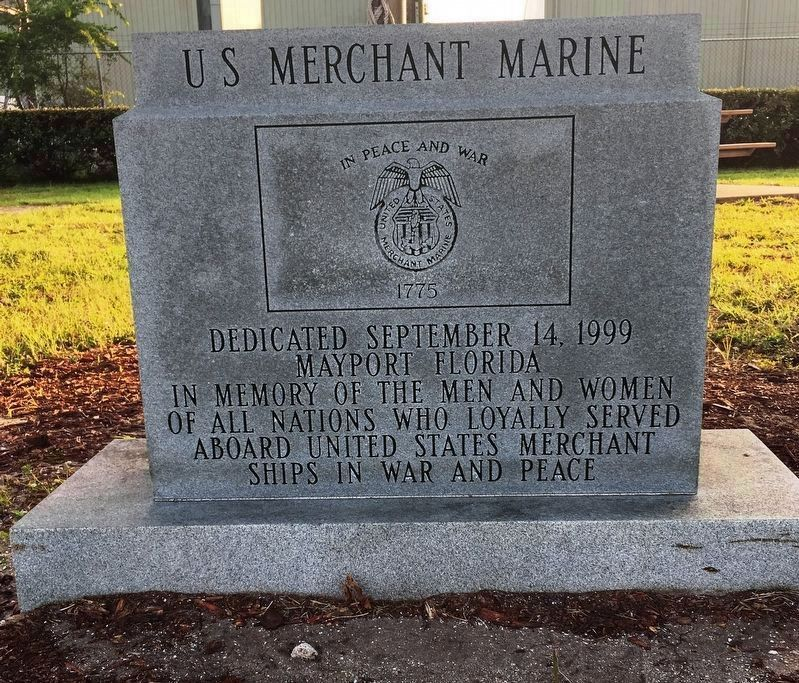 US Merchant Marine Marker image. Click for full size.