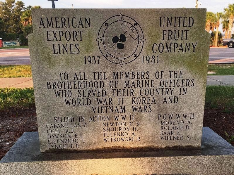 American Export Lines/United Fruit Company Marker image. Click for full size.
