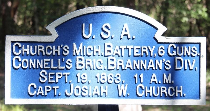 Battery D, 1st Michigan Artillery Marker image. Click for full size.