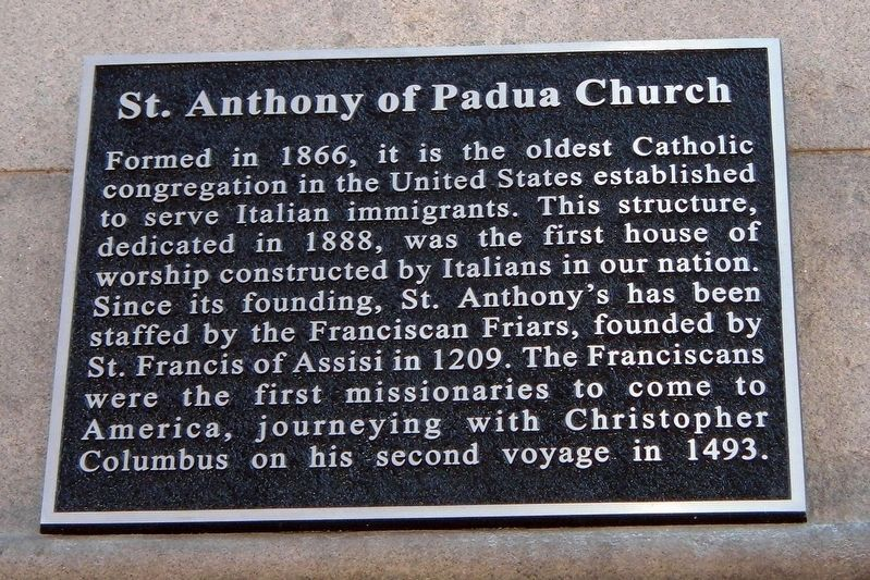 St. Anthony of Padua Church Marker image. Click for full size.