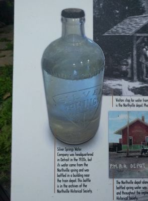 Roadside Refreshment: at Northville's Silver Spring Well - lower extreme far left image image. Click for full size.