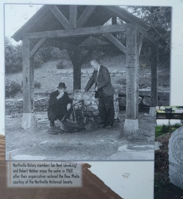 Roadside Refreshment: at Northville's Silver Spring Well - lower near right image image. Click for full size.