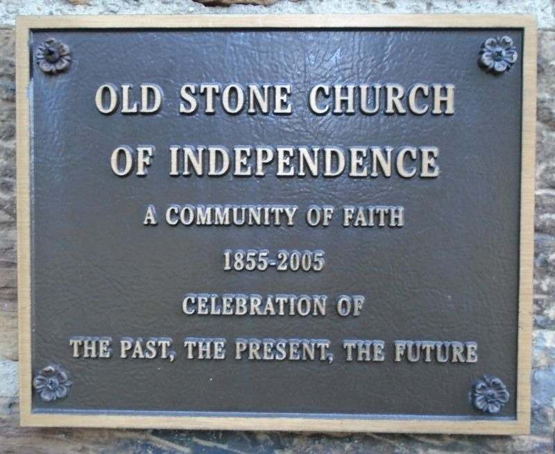 Old Stone Church of Independence Sesquicentennial Marker image. Click for full size.