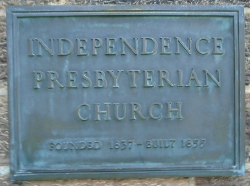 Independence Presbyterian Church Marker image. Click for full size.