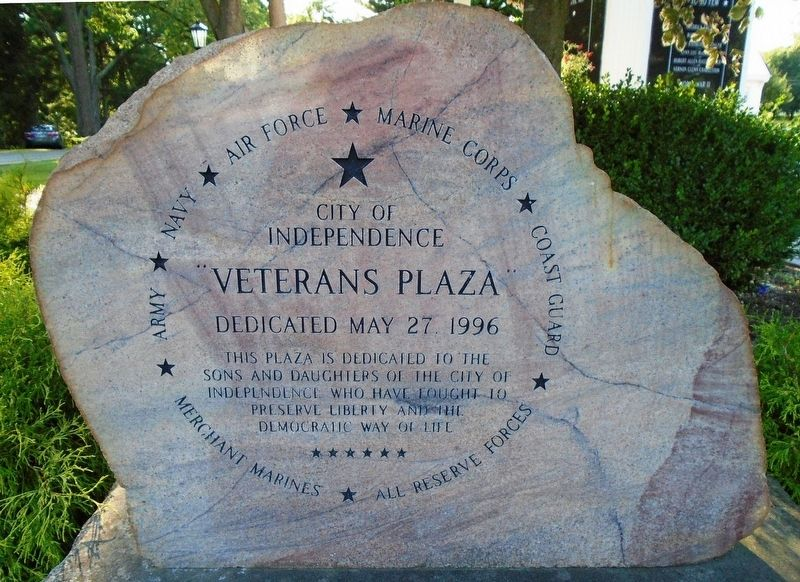 """Veterans Plaza"" Marker image. Click for full size."