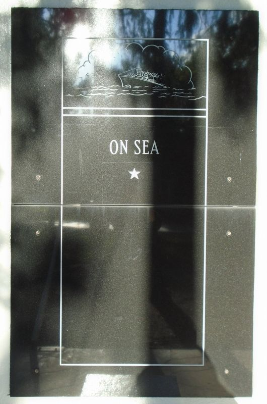 """Veterans Plaza"" On Sea Marker image. Click for full size."
