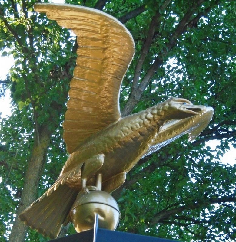 """Veterans Plaza"" Memorial Eagle image. Click for full size."