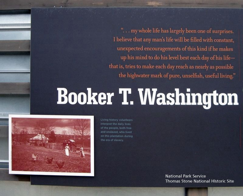 Booker T. Washington National Monument (Left 1/3 of marker.) image. Click for full size.