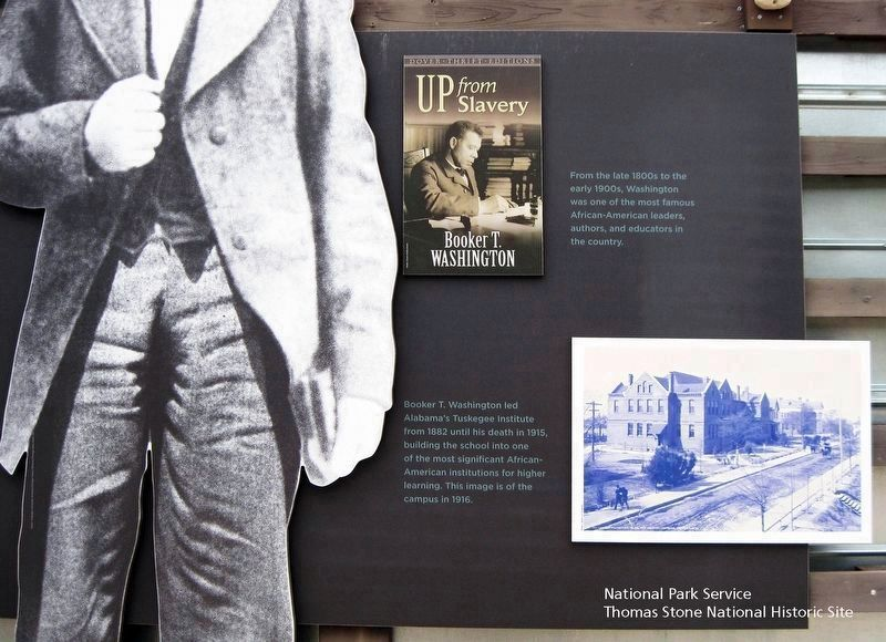 Booker T. Washington National Monument (Right 1/3 of marker.) image. Click for full size.