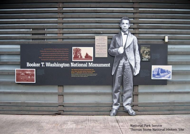 Booker T. Washington National Monument (Entire marker) image. Click for full size.