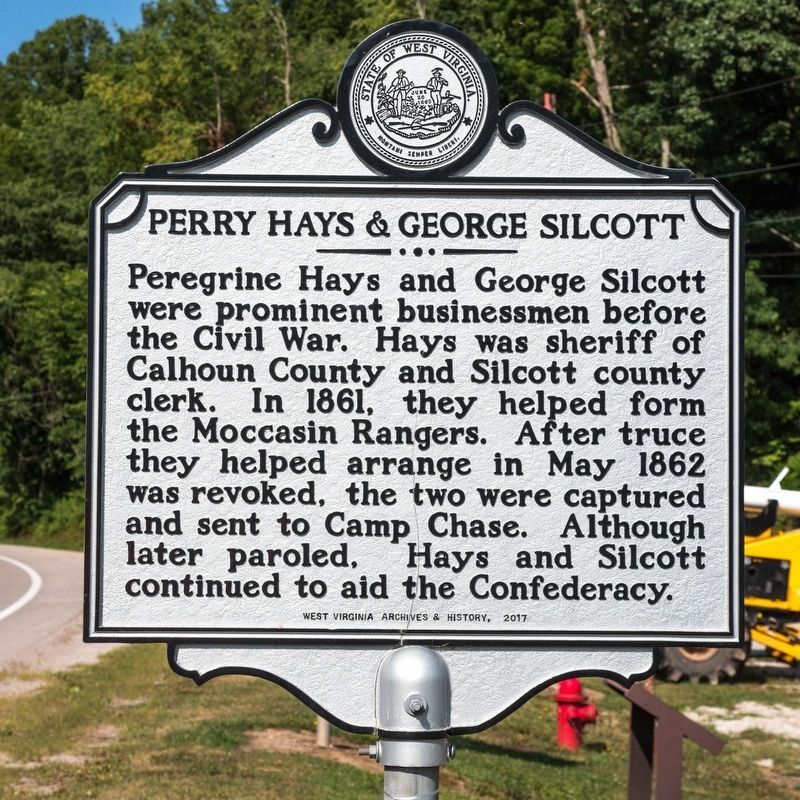Perry Hays & George Silcott side or marker image. Click for full size.
