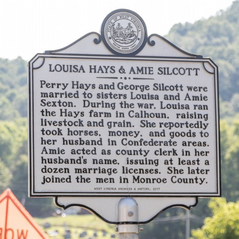 Louisa Hays & Amie Silcott side of marker image. Click for full size.