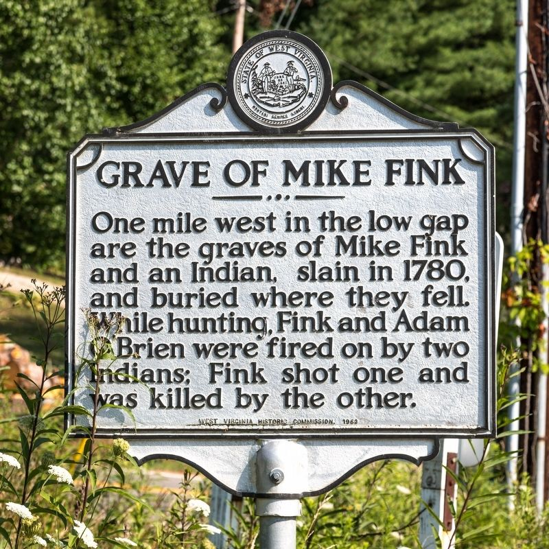 Grave of Mike Fink Marker image. Click for full size.