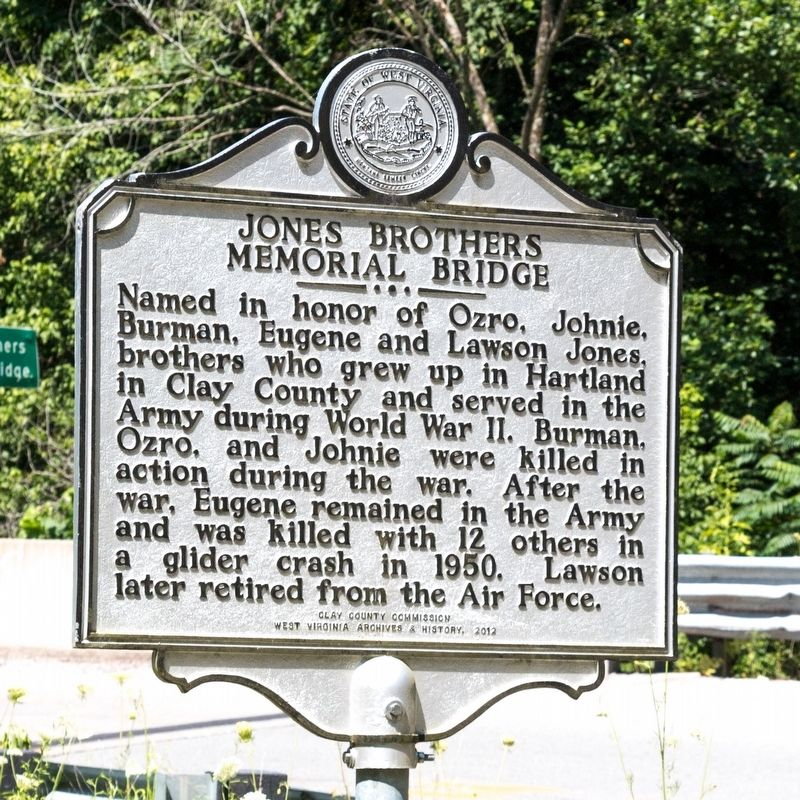 Jones Brothers Memorial Bridge Marker image. Click for full size.