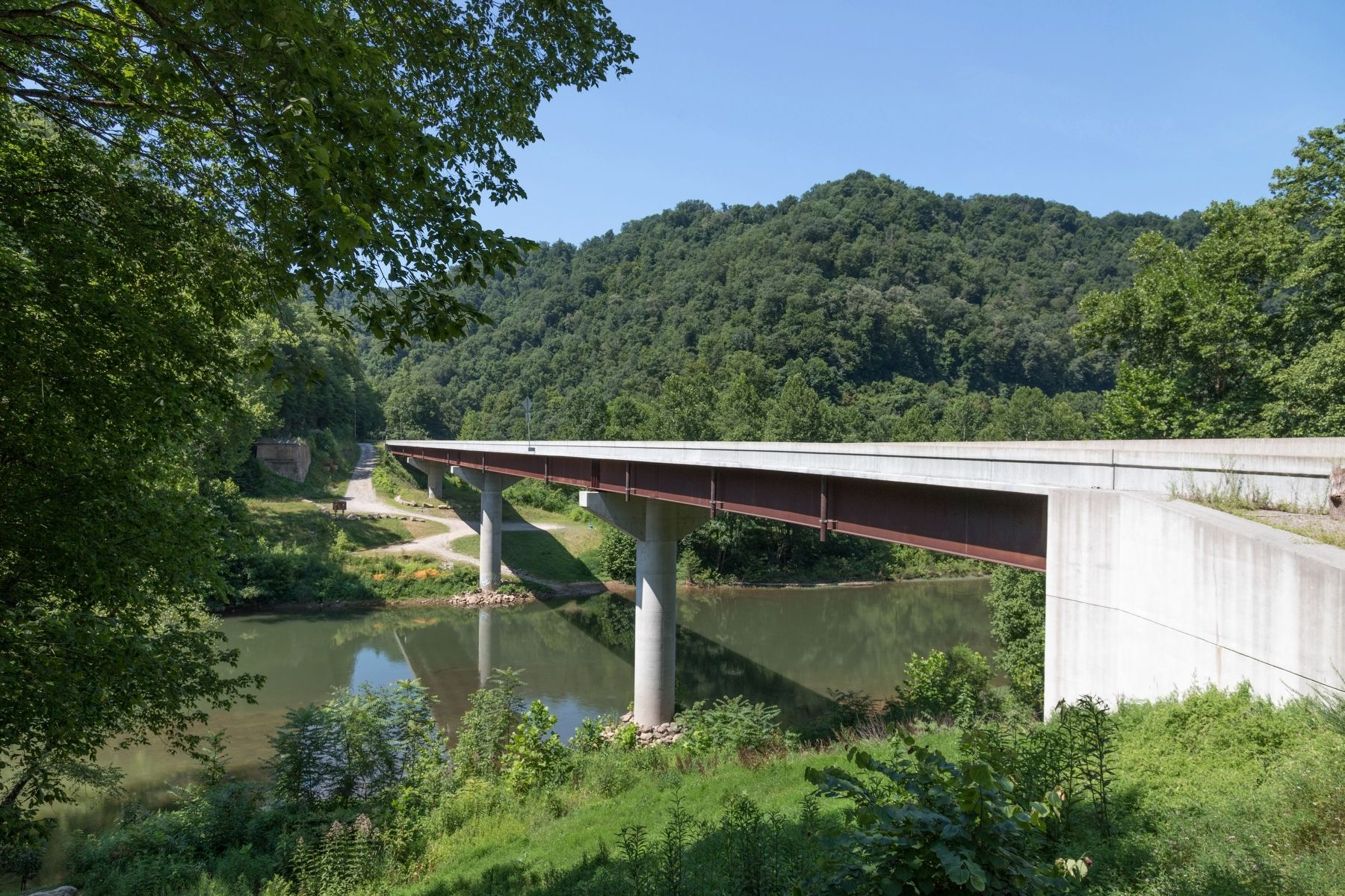 Jones Brothers Memorial Bridge Over the Elk River in Clay County, West Virginia image. Click for full size.