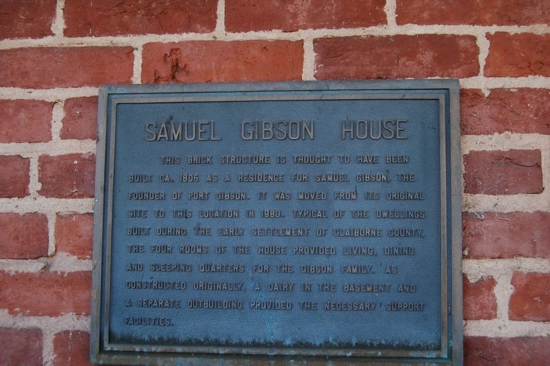 Samuel Gibson House Marker image. Click for full size.