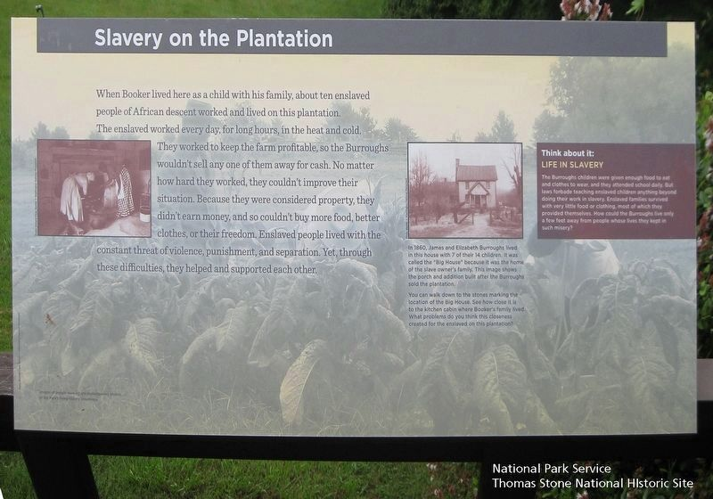 Slavery on the Plantation Marker image. Click for full size.