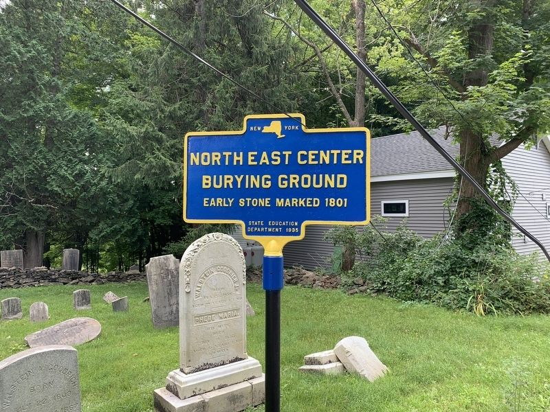 Northeast Center Burying Ground Marker image. Click for full size.